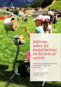 Portada Informe sobre les instal·lacions en les arts de carrer