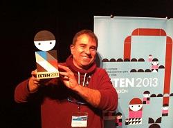 Pep López amb el premi FETEN