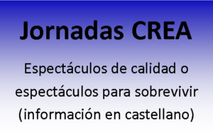 Información en castellano de las jornadas CREA