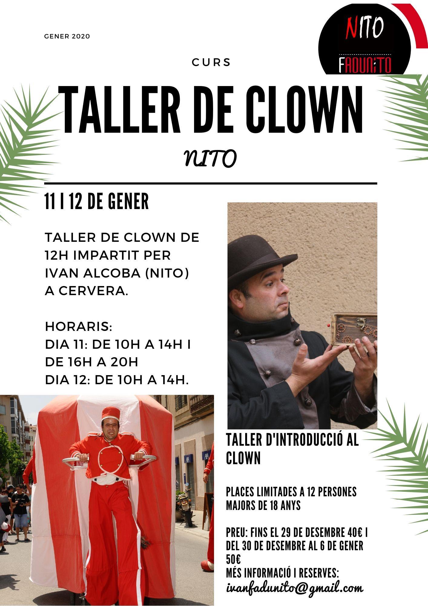 Programa Taller de clown Nito