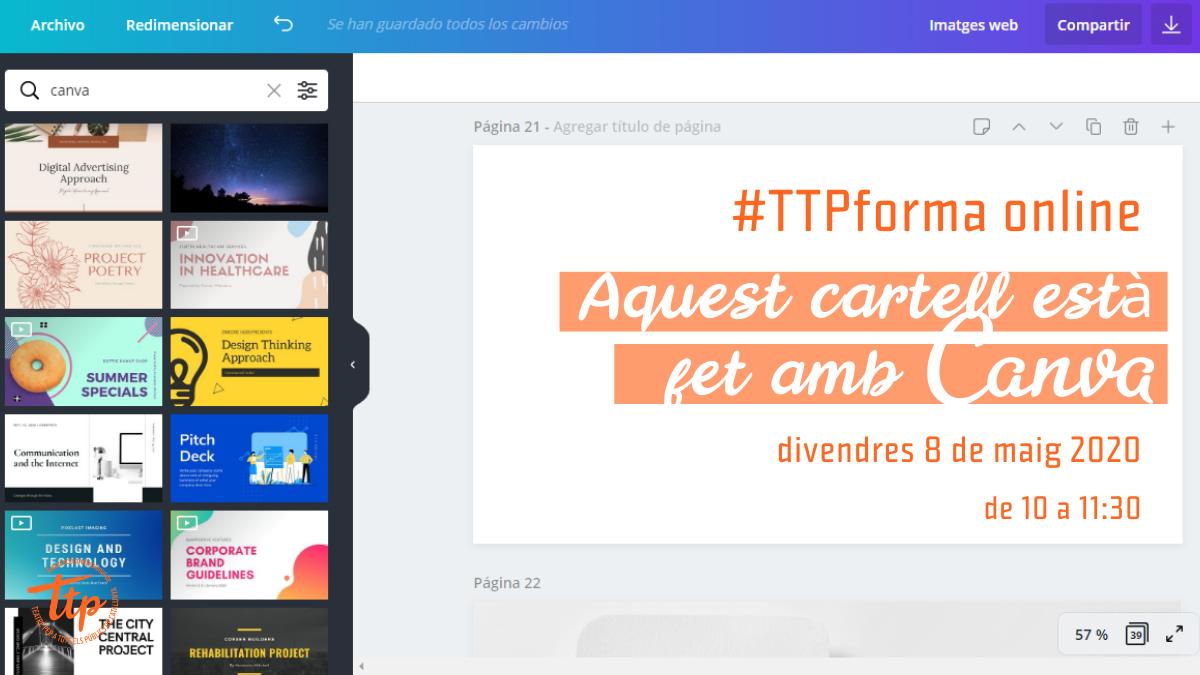 #TTPforma online: Com pot ajudar Canva a la teva imatge de marca?