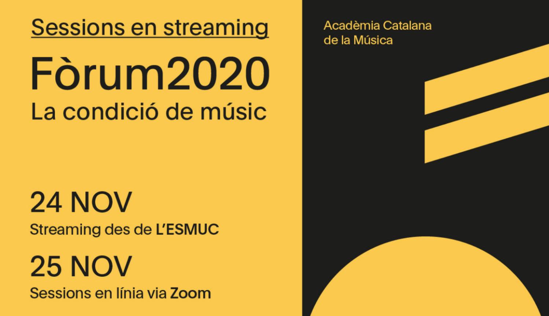 La condició del músic i la manca de programes de suport a la creació musical, eixos centrals del Fòrum 2020