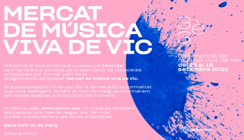 Oberta la convocatòria de propostes artístiques pel 33è Mercat de Música Viva de Vic