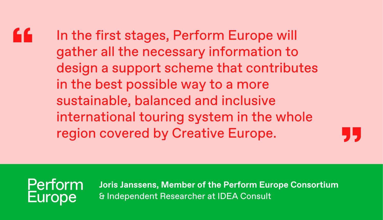 Neix 'Perform Europe' una plataforma per donar suport a les gires d'arts escèniques