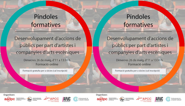 Píndoles escèniques: Desenvolupament d'accions de públics per part d'artistes i companyies d'arts escèniques