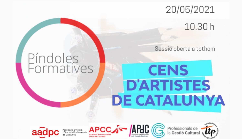 PÍNDOLA SOBRE EL CENS D'ARTISTES DE CATALUNYA