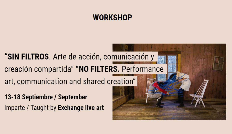 Workshop Sin Filtros, aquest setembre a Eivissa impartit per Exchange Live Art